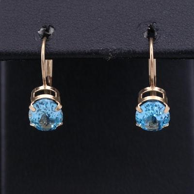 14K Topaz Dangle Earrings