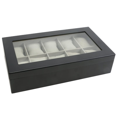 Bey-Berk International Satin Black Watch Display Case