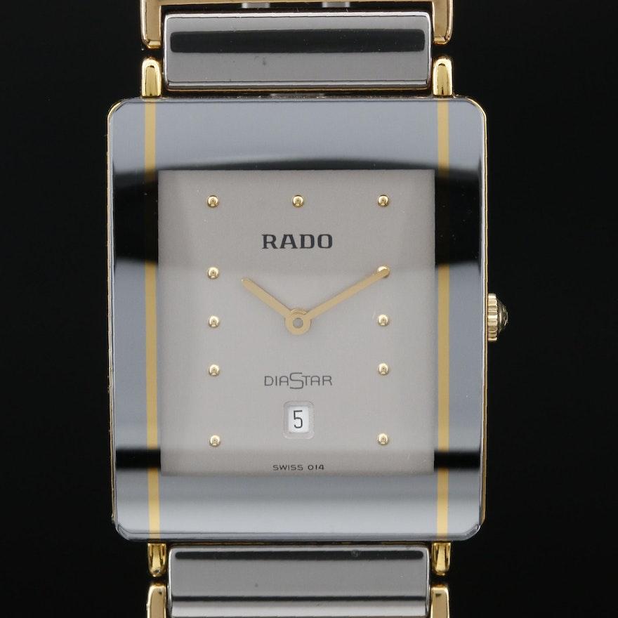 Swiss Rado Diastar with Date Stainless Steel Quartz Wristwatch