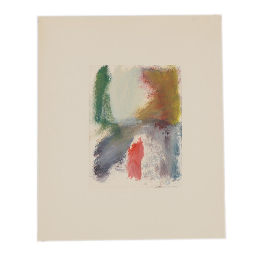 Abstract Acrylic Painting, Mid to Late 20th Century
