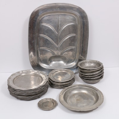 Wilton Pewter Dinnerware and Platter
