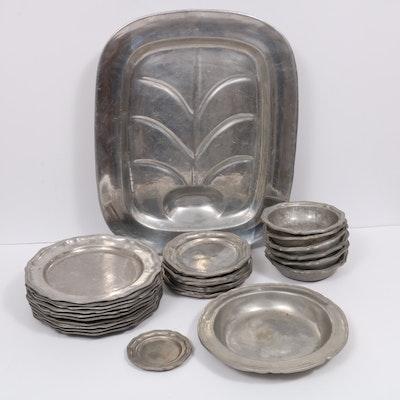 Wilton Pewter Dinnerware and Platter