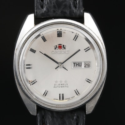 Orient Stainless Steel Automatic Wristwatch with Day/Date
