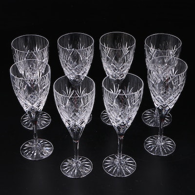 "Royal Doulton ""Westminster"" Crystal Wine Glasses, Late 20th Century"