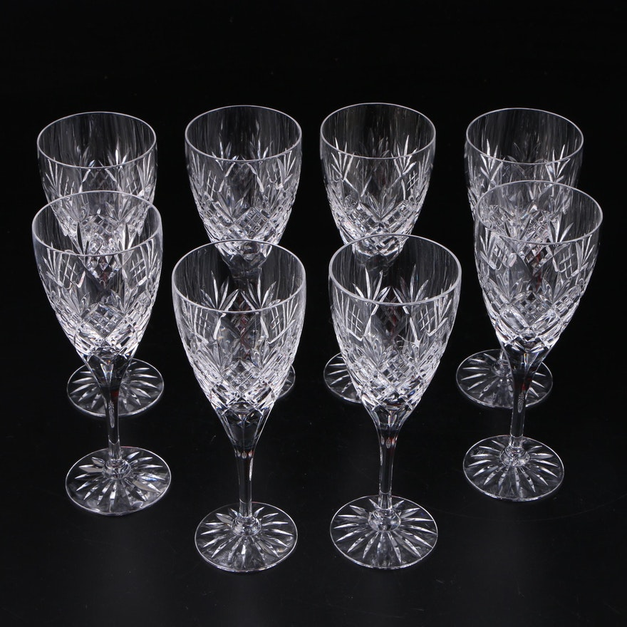 """Royal Doulton """"Westminster"""" Crystal Wine Glasses, Late 20th Century"""