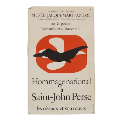 "Lithograph Poster after Georges Braque for ""Musée Jacquemart-André,"" 1976"