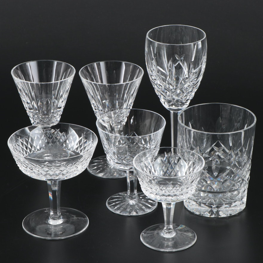 Waterford Crystal Cocktail Glasses and Stemware, Late 20th/Early 21st Century