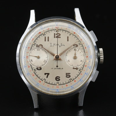 S. Kirk & Son Chronograph Stainless Steel Wristwatch