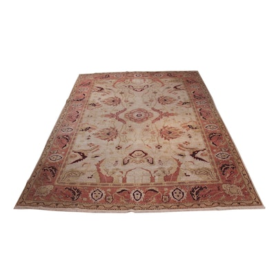 8'9 x 11'6 Hand-Knotted Turkish Room-Size Rug, 20th Century