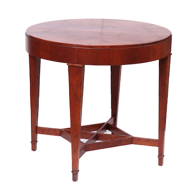 "Baker ""Milling Road"" Distressed Cherry Finish Side Table, Late 20th Century"