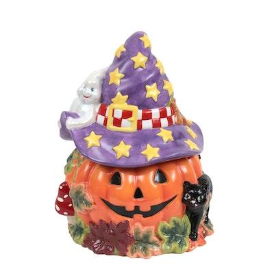 Christopher Radko Halloween-Themed Figural Ceramic Cookie Jar