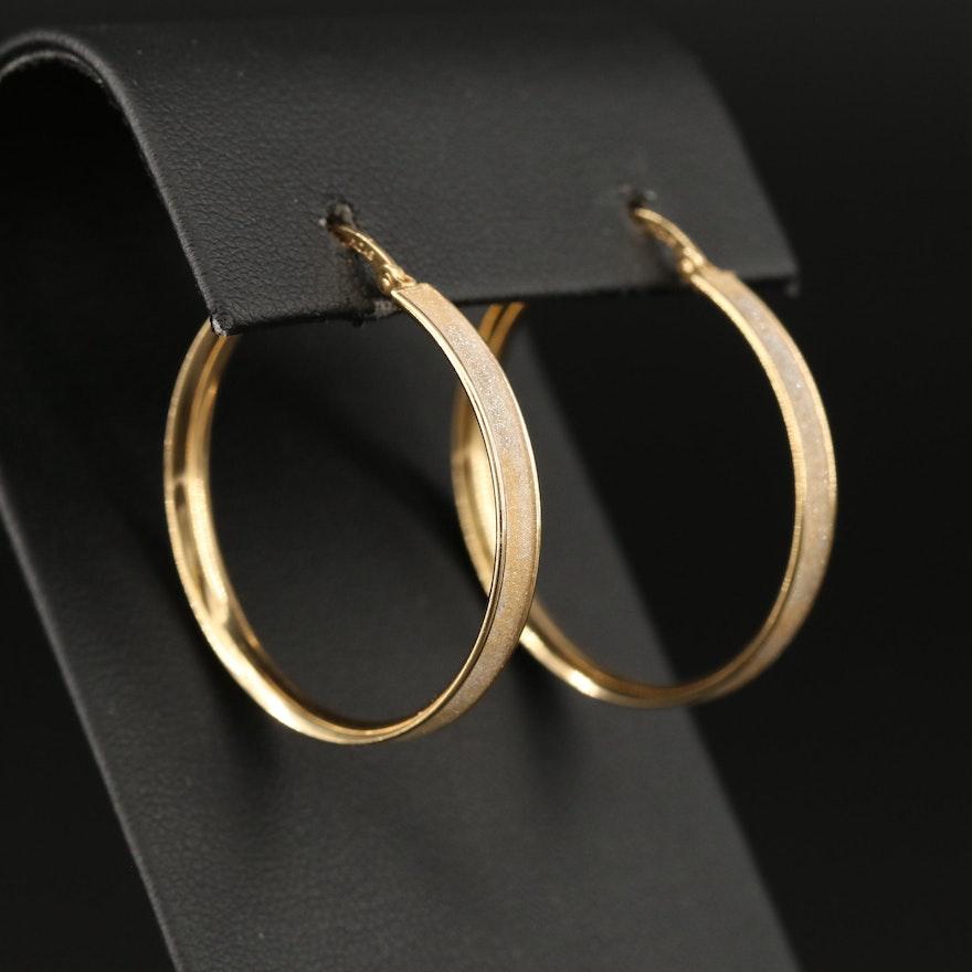 10K Sparkle Resin Hoop Earrings