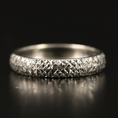 14K Diamond Cut Textured Band