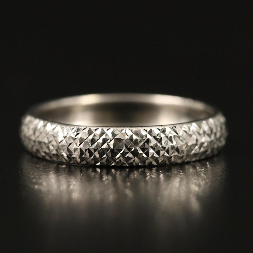 14K Diamond Cut Textured Band