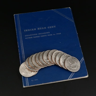 Flying Eagle and Indian Head Cent Collection in Whitman Coin Book