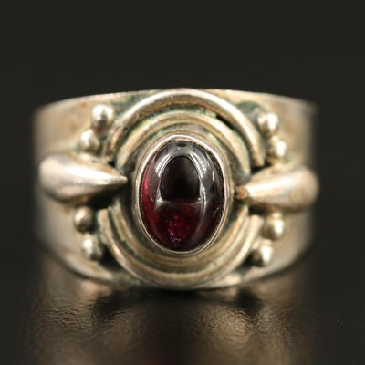 Sterling Silver Bezel Set Rhodolite Garnet Ring
