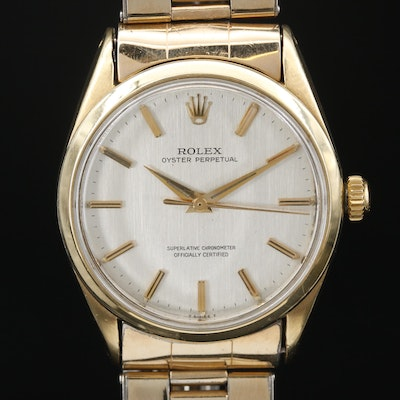 "Vintage Rolex ""Oyster Perpetual"" Gold Shell Wristwatch"