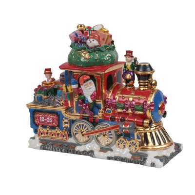 Christopher Radko Figural Christmas Train Cookie Jar