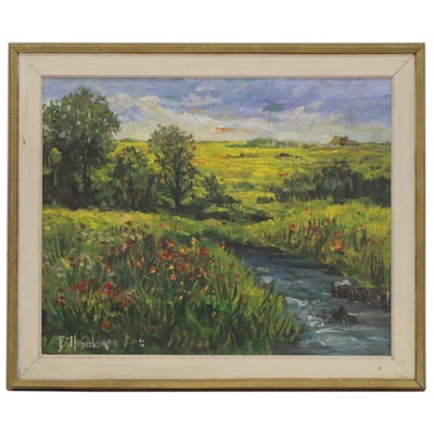 Bill Salamon Landscape Oil Painting, 20th Century