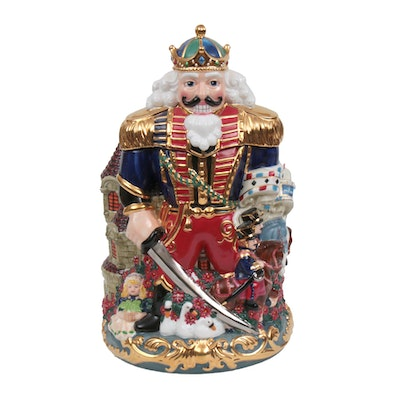 Christopher Radko Nutcracker King Ceramic Cookie Jar