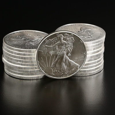 U.S. Mint Roll of Twenty 2020 $1 American Silver Eagles