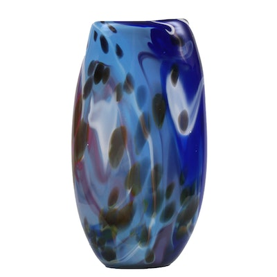 Dawson Kellogg Blown Art Glass Vase, 2009