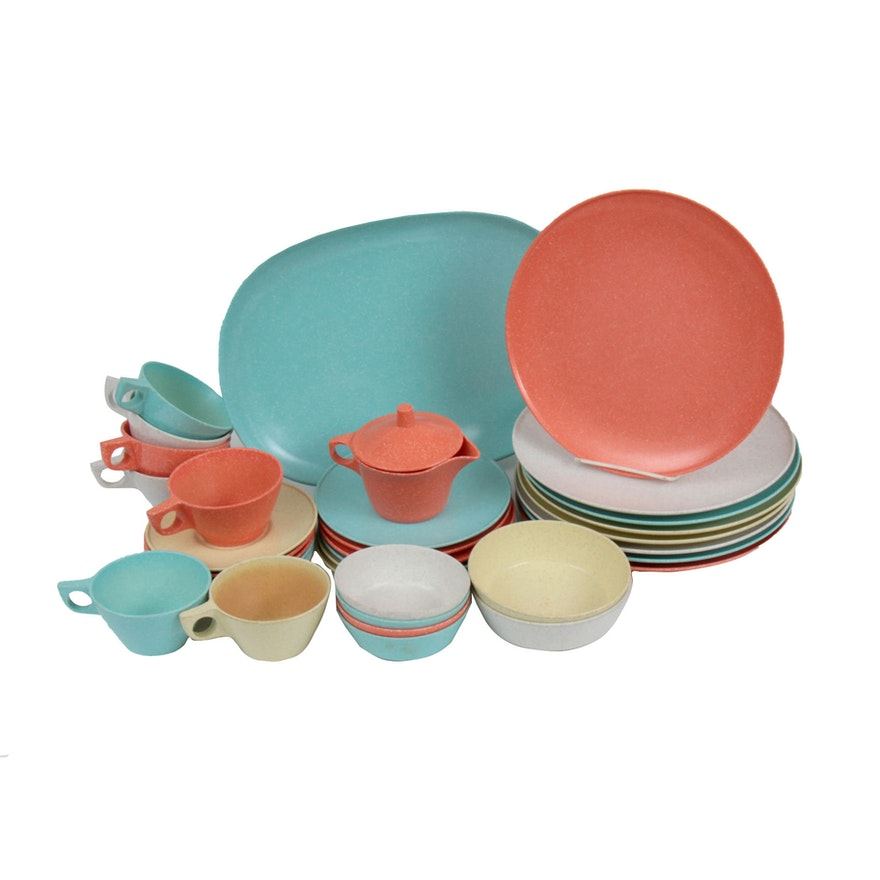 "San Jacinto ""Texas Ware"" Speckled Melamine Dinnerware, 1950s"