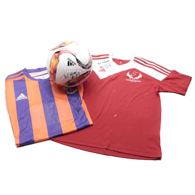 Indian Soccer Super League Signed Adidas Ball, FC Pune City, and Other Jerseys