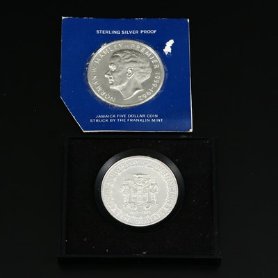 Sterling Silver $5 and $10 Jamaican Coins