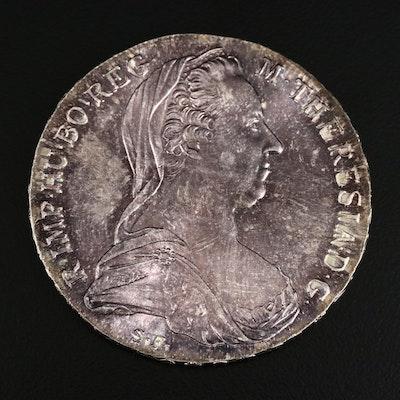 Restrike 1780 Austria Maria Theresa Silver Thaler