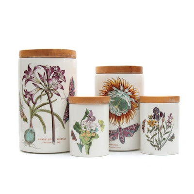 "Portmeirion ""The Botanic Garden"" Lidded Ceramic Canister Set"