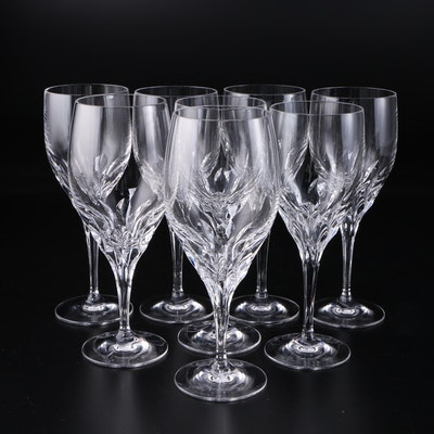"Gorham ""Diamond Clear"" Crystal Iced Tea and Water Goblets, 1989–2007"