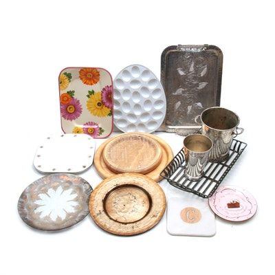 Cheryl & Co. and Other Platters, Trays, and Ice Buckets