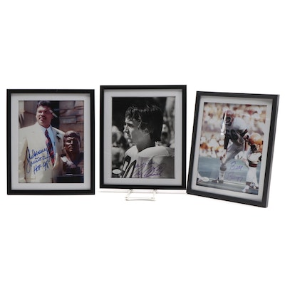 Bergey, Munoz, and Collinsworth Signed Bengals Signed Photo Prints, JSA COAs