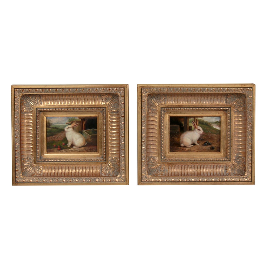 Oil Paintings of Rabbits, Late 20th Century