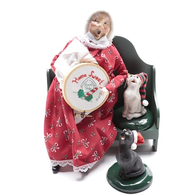 Byers' Choice Ltd. Mrs. Claus and Cats Carolers, Late 20th Century