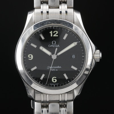 "Omega ""Seamaster"" 120M Stainless Steel Quartz Wristwatch"