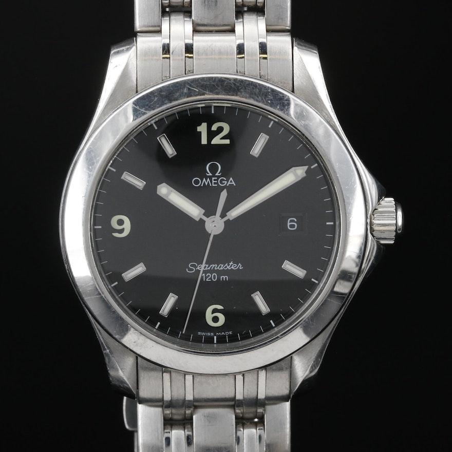 "Omega ""Seamaster"" 120M Stainless Steel Quartz Wristwatch"