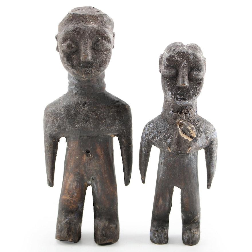 Mbuti Style Wooden Fertility Dolls, Democratic Republic of the Congo