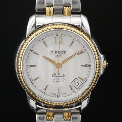"Tissot ""Ballade"" Exhibition Back Two Tone Stainless Steel Automatic Wristwatch"