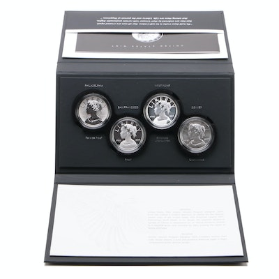 "U.S. Mint ""American Liberty 225th Anniversary Silver Four-Medal Set"""
