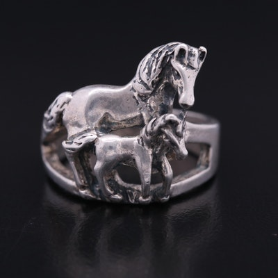 Otto Grun Horse and Foal Ring in Sterling