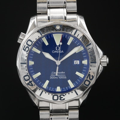"Omega ""Seamaster Diver 300M"" Stainless Steel Quartz Wristwatch"
