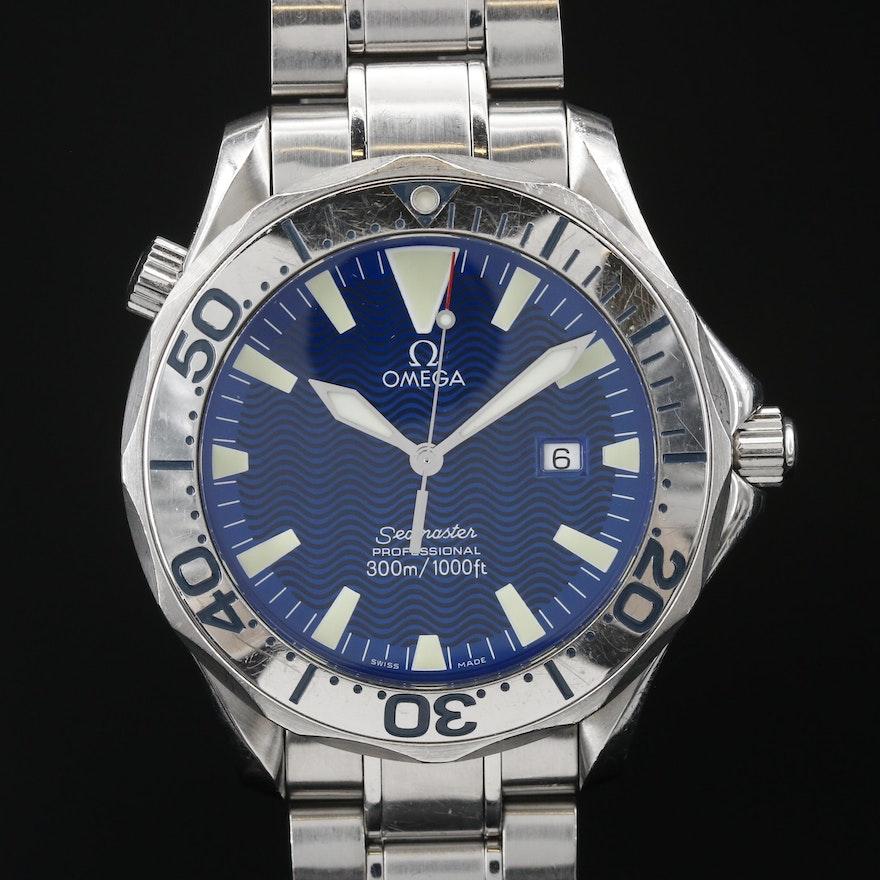 "Omega ""Seamaster Diver 300M"" Stainless Steel Quartz Wristwatch"