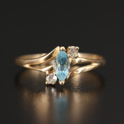 10K Topaz and Cubic Zirconia Ring