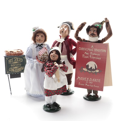 Byers' Choice Ltd. Carolers and Gingerbread Cart Figurines
