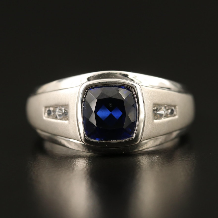 Sterling Sapphire Ring
