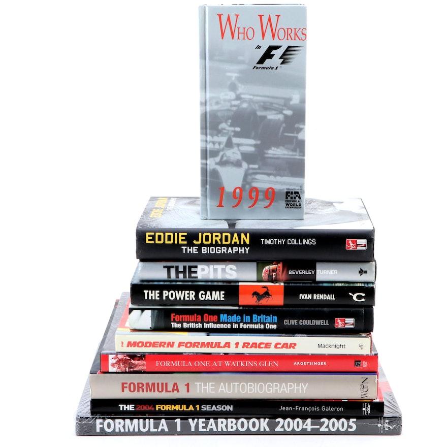 "Formula One Hardback Books Featuring ""Formula One at Watkins Glen"" and Others"