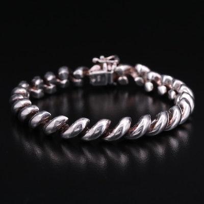 Sterling Silver San Marco Style Bracelet