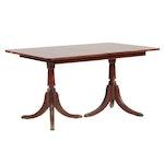 Classical Style Mahogany Finish Dining Table, Mid-20th Century